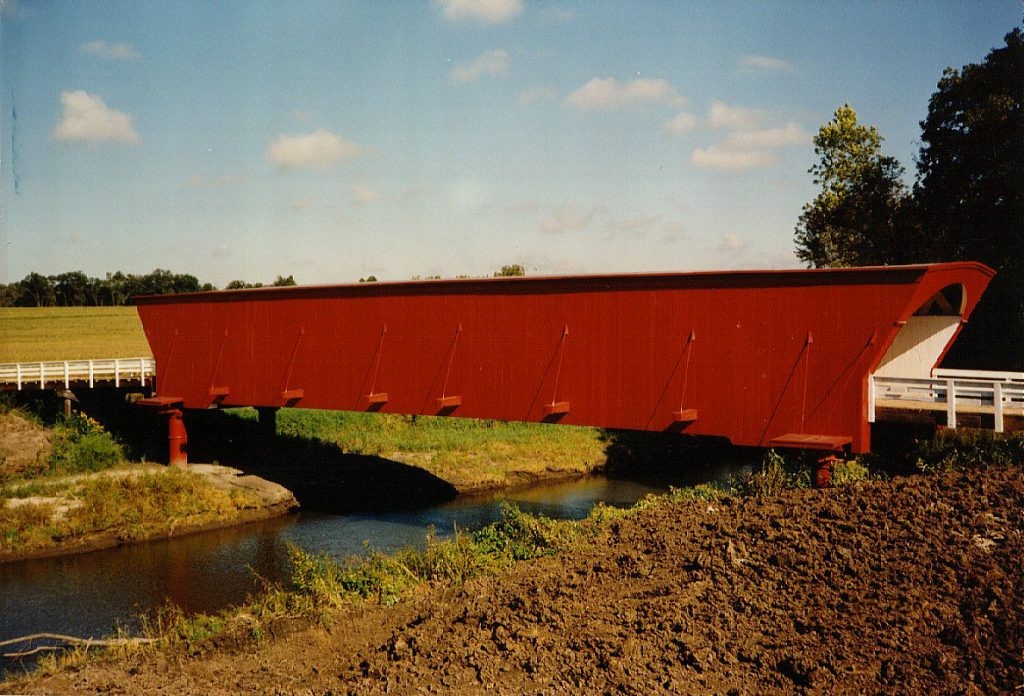 Here is a prime example of one of the covered bridges. This one is still in use -- many are quite old and are not in use at all anymore.