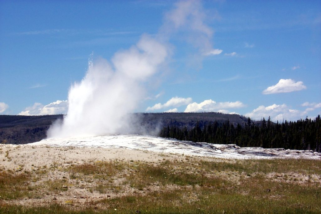 Old Faithful as it cools off again.