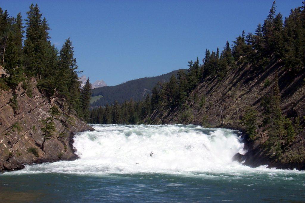The Bow Falls at Banff.