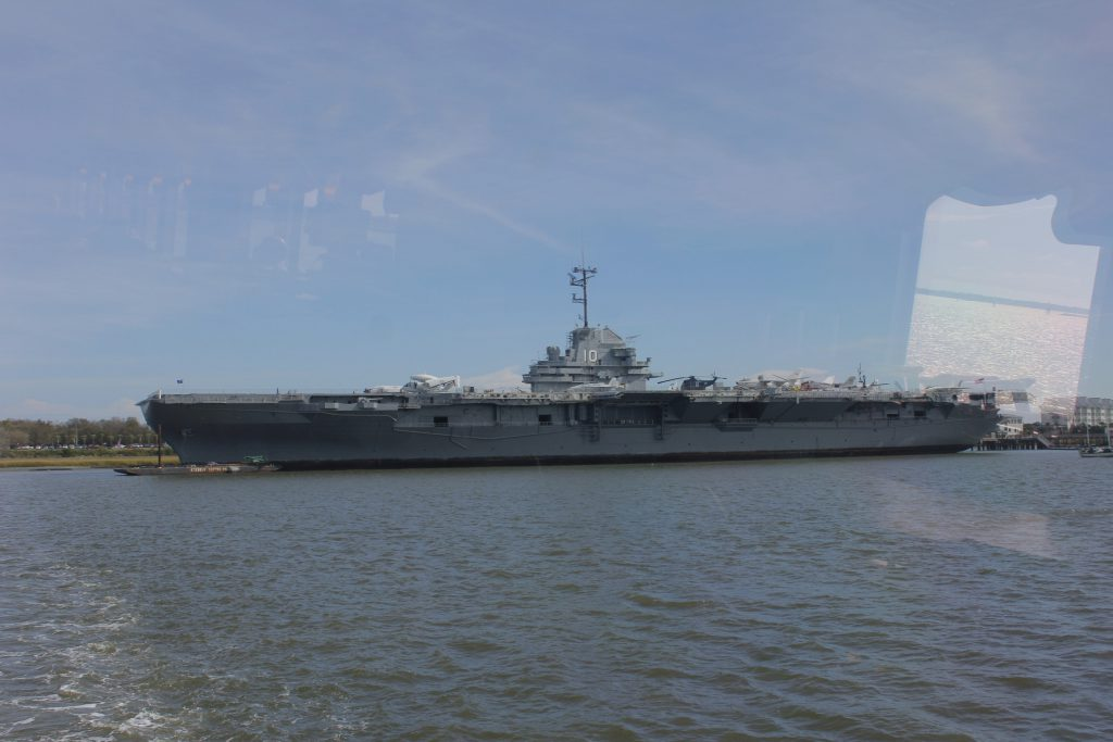 A view of the Yorktown from the ferry that was taking us out to Fort Sumter.