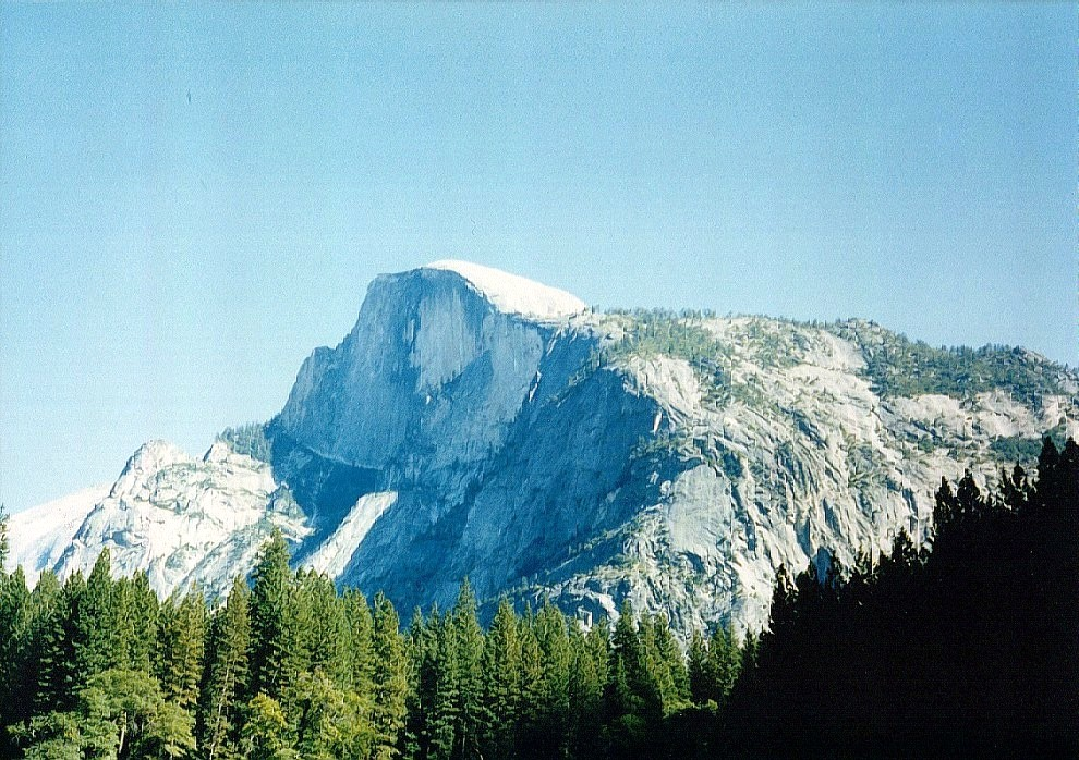 Half Dome. This is the view of the half-dome from the valley floor, near the camping village.