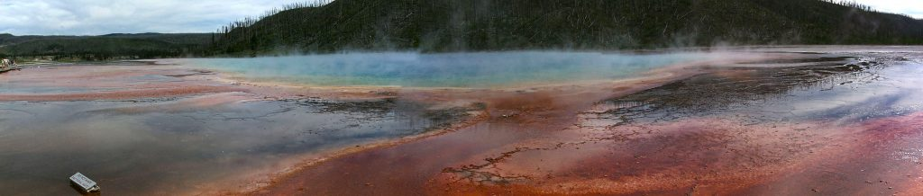 Steaming Pools  along the Firehole River