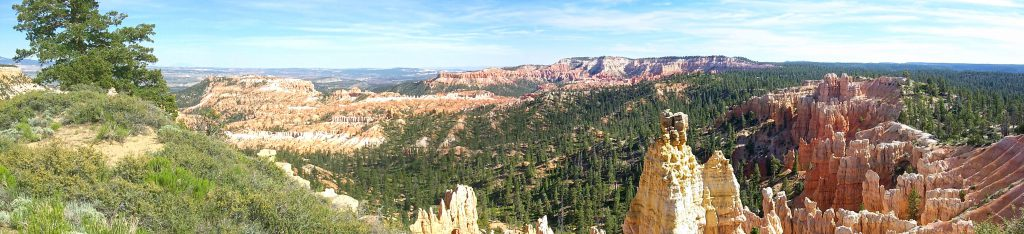 A panoramic view of the northern part of the canyon taken from the northern most part of the rim trail (about 1.5 miles from our camp)