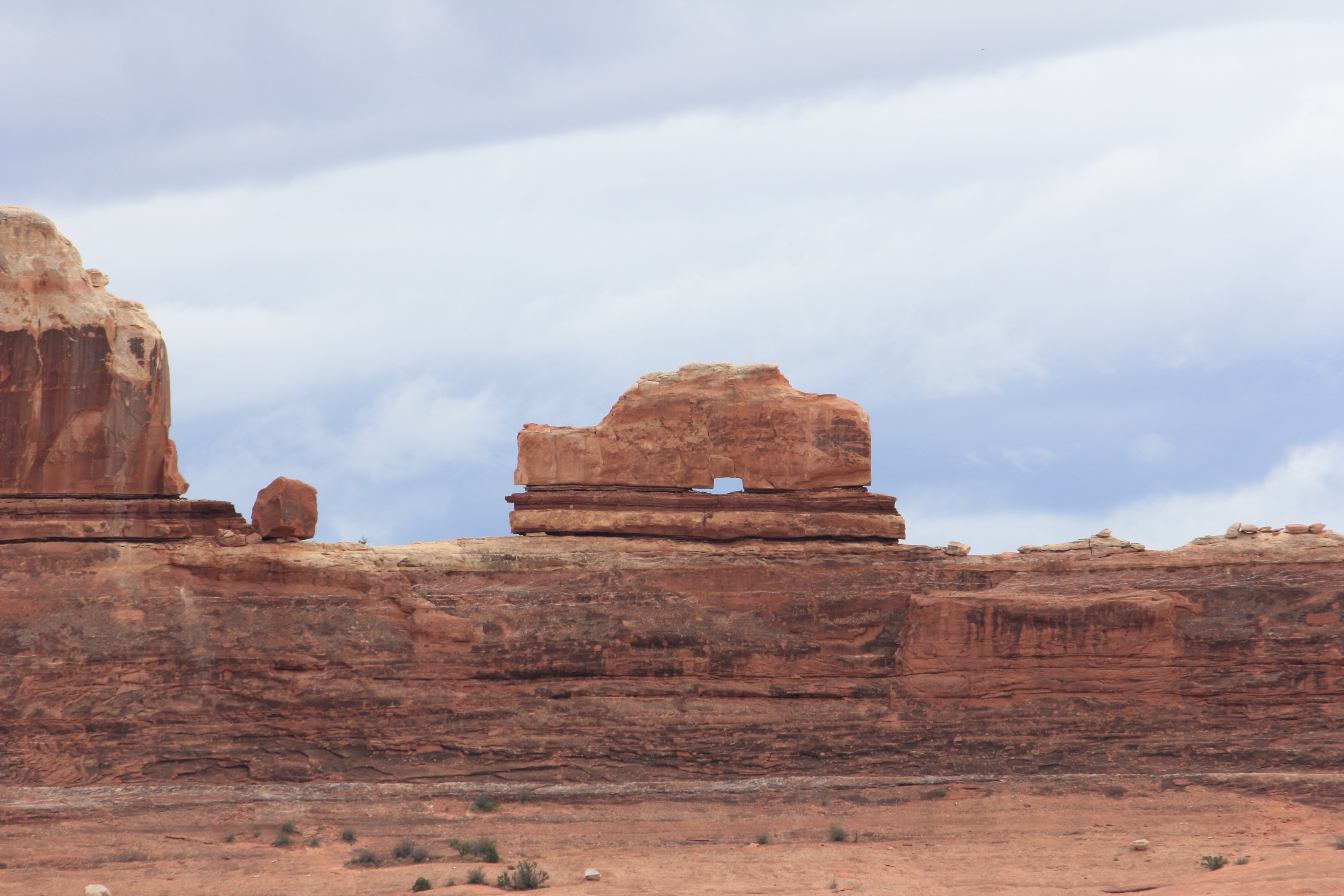 The Shoe Arch. Along the road in to the Needles district you'll find this 'arch'.