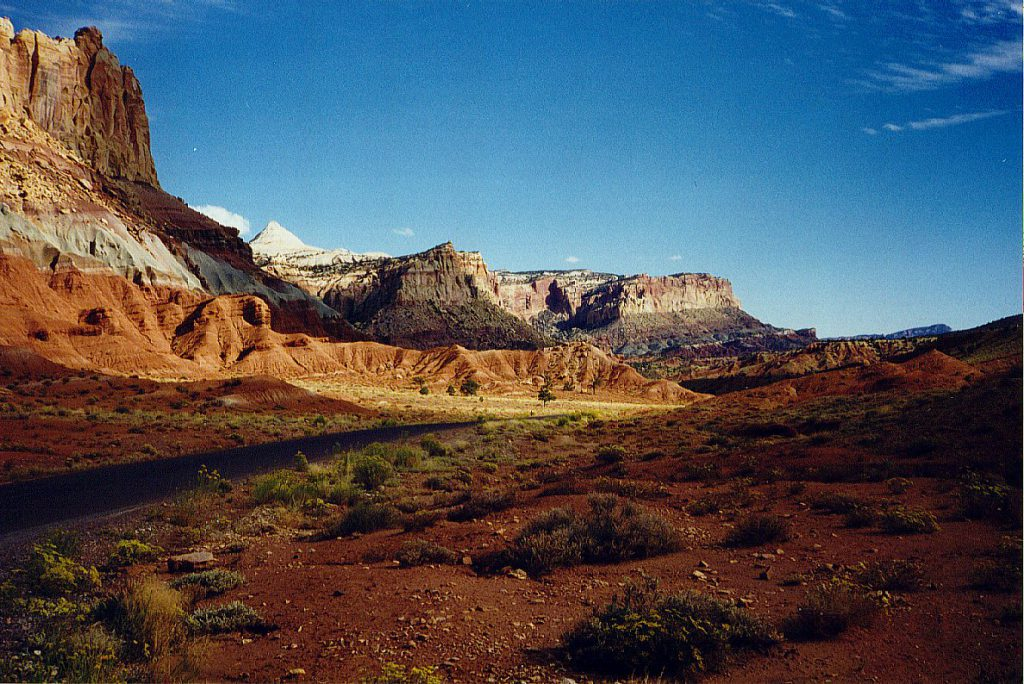 The Capitol Reef from the scenic drive.