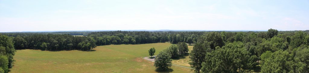 Here is a partial view from the top of the tower.