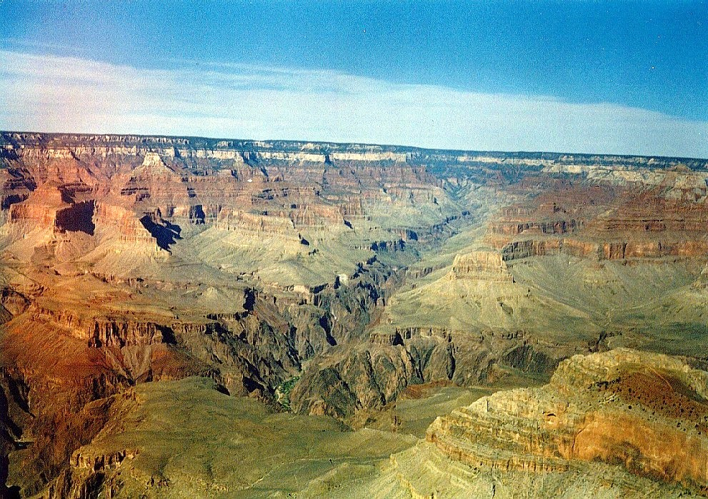 Mather Point. Looking north-east towards the entrance of the Colorado River into the Canyon.