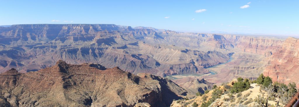 Mather Point. A nice early morning (less aerial perspective) shot looking east  from Mather point. You can see the Colorado in the right/centre.
