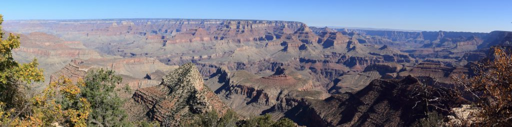 Grandview Point. Looking north from Grandview point towards the north rim. The morning sun shows the shadow relief.