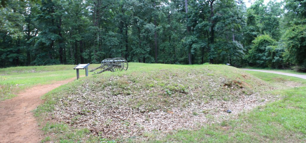 A Confederate redoubt created to defend the mountain from the Union approach.