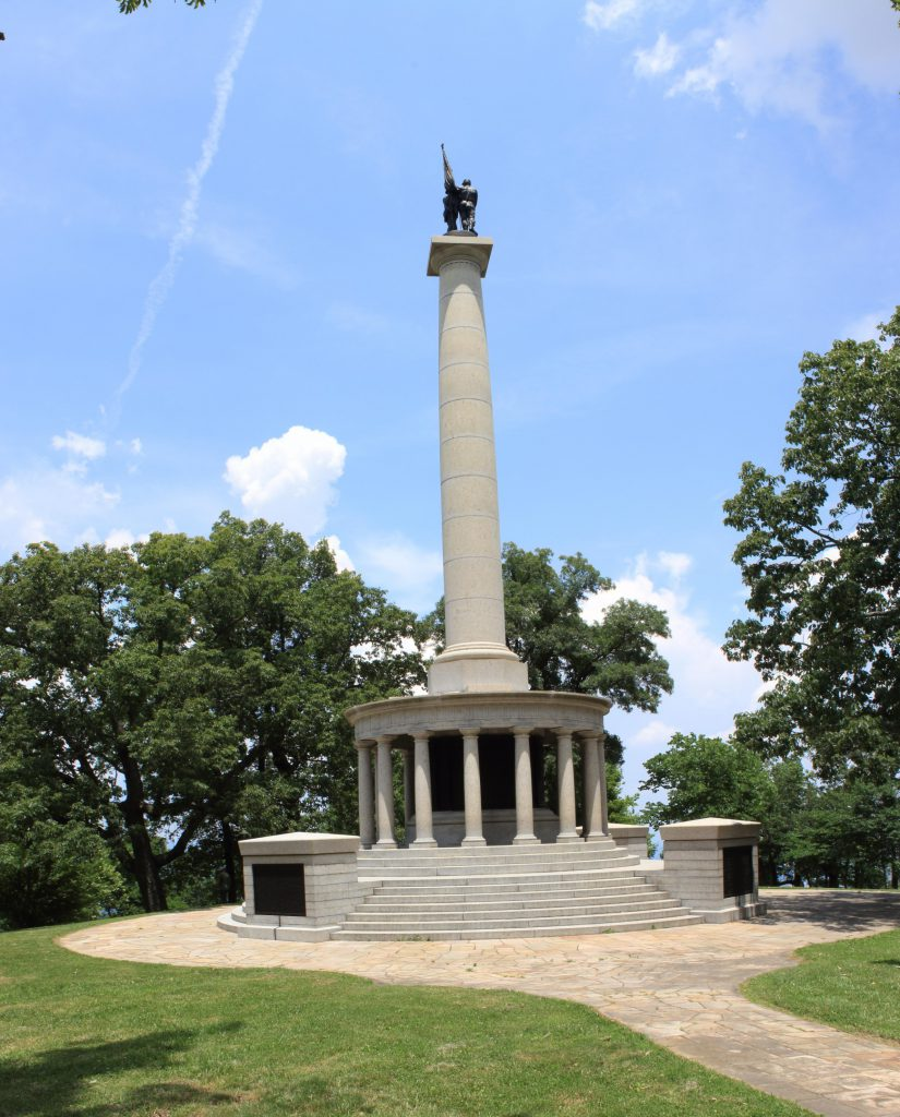 A monument atop Lookout Mountain.