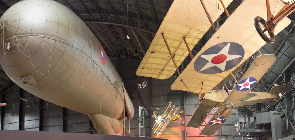 World War one planes and balloons!