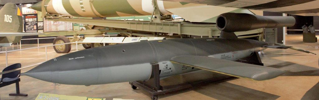 The V1 rocket ... aka Buzz-Bomb.