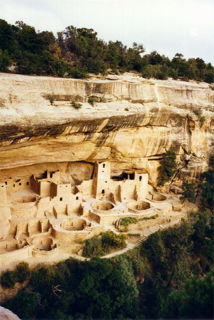 The Cliff Palace. This village is embedded into the side of the Mesa. Not accessible from below -- only from the mesa top through narrow clefts.