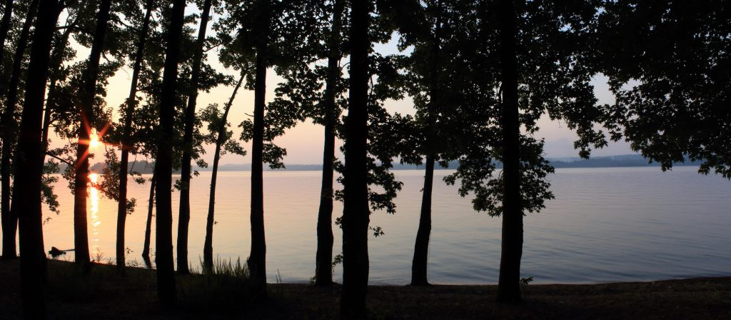Sunrise over Kentucky Lake from our camp site on the lake's edge.