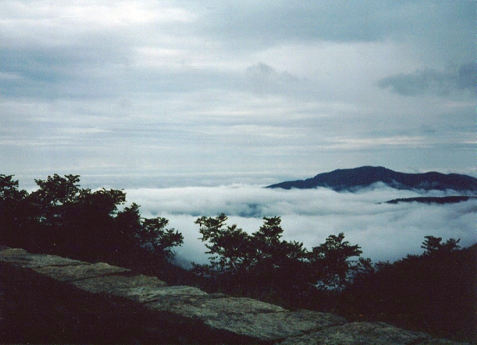 The Smokey Mountains from the Blue Ridge Parkway.