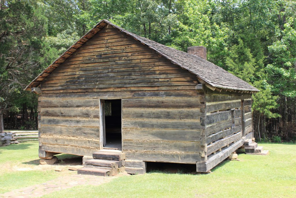 A reproduction of the Shiloh Church. The original was destroyed during the battle.