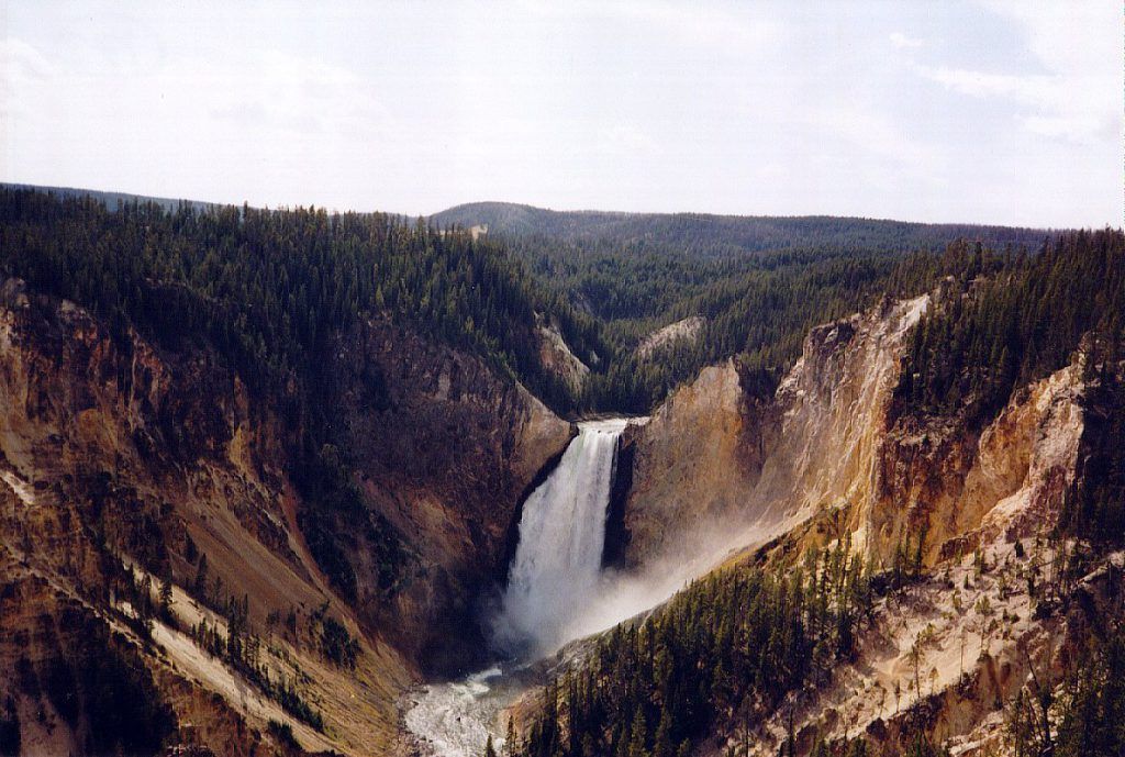 One of the two falls along the Grand Canyon of the Yellowstone.